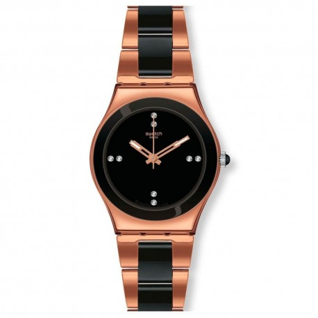 MONTRE SWATCH ROSE PEEARL BLACK YLG123G