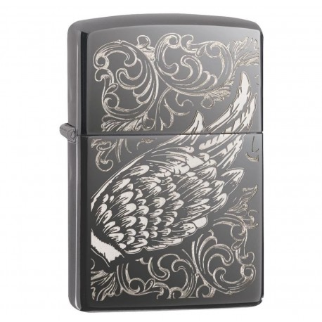 Briquet ZIPOO FILIGREE FLAME AND WING DESIGN 29881