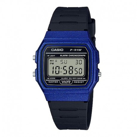 CASIO Montre Unisexe F-91WM-2ADF