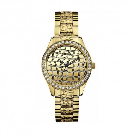 Montre Guess W0236L2 Croco Glam Gold femme